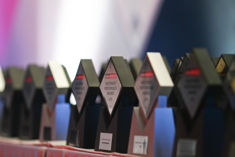 The awards ready to be handed out