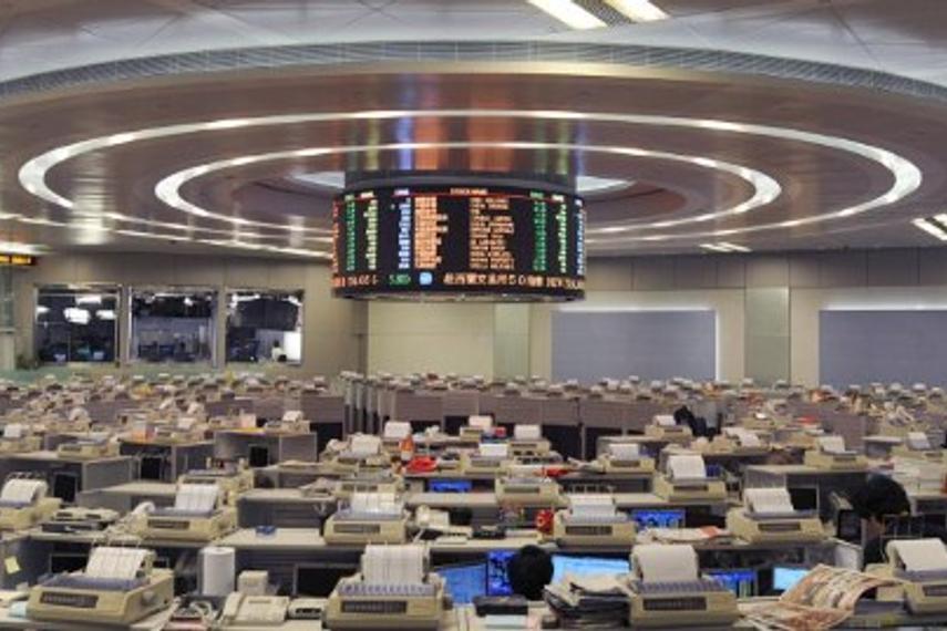 Hong Kong stock exchange trading hall