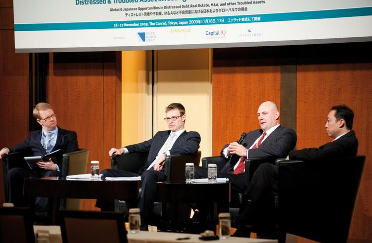 Michel Lowy, SC Lowy; Steve Moyer, Pimco; and Edwin Wong, SSG Capital Management