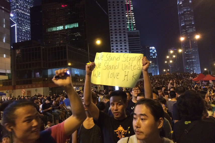 Are the protests benefiting Singapore?