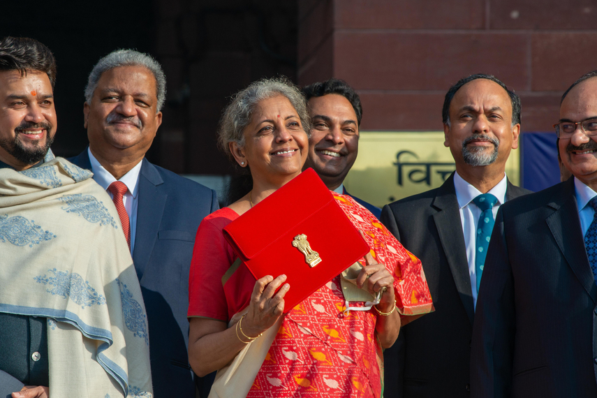 Infrastructure instigators: Indian finance minister Nirmala Sitharaman (centre) has laid out key incentives for infrastructure investors.