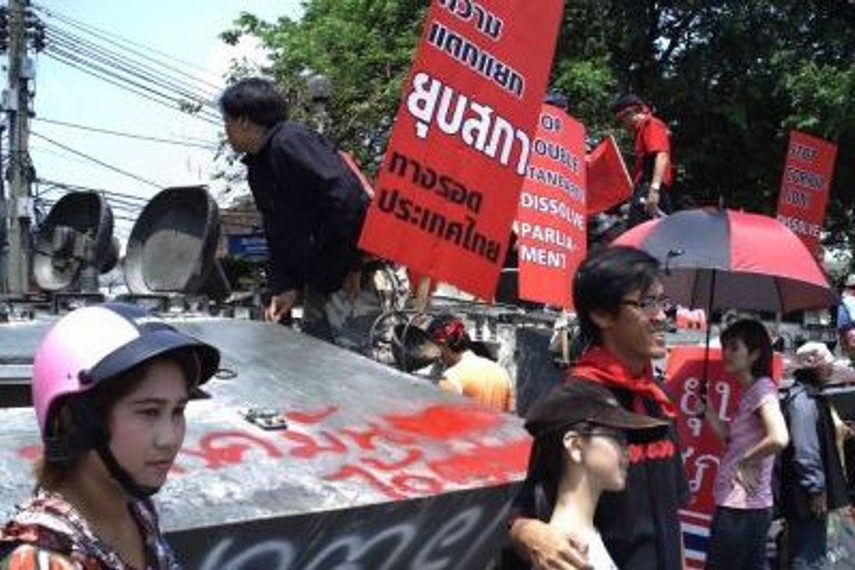 Thai 'red shirts' protesting earlier this month. Photographer: Glen Benton