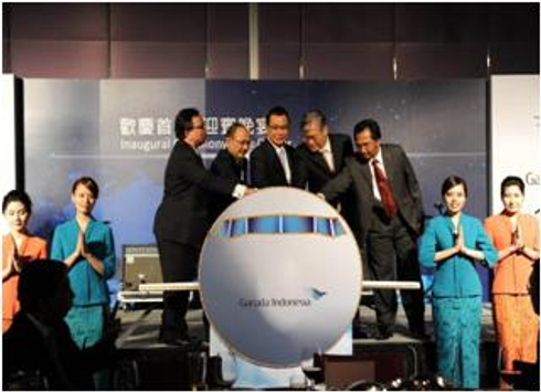 Taipei Route Resumes Flight Inaugural Ceremony Campaign