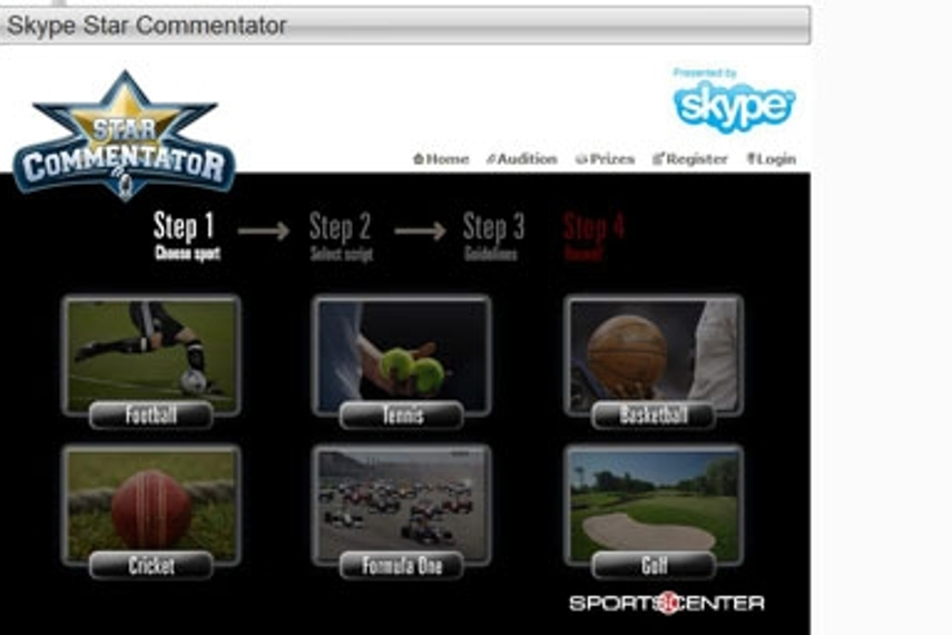 Espn Star Sports And Skype Launch Commentator Contest Digital Campaign Asia