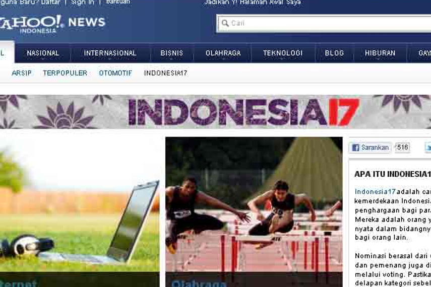 Yahoo indonesia to celebrate national day online digital the yahoo news page on indonesia17 stopboris Gallery