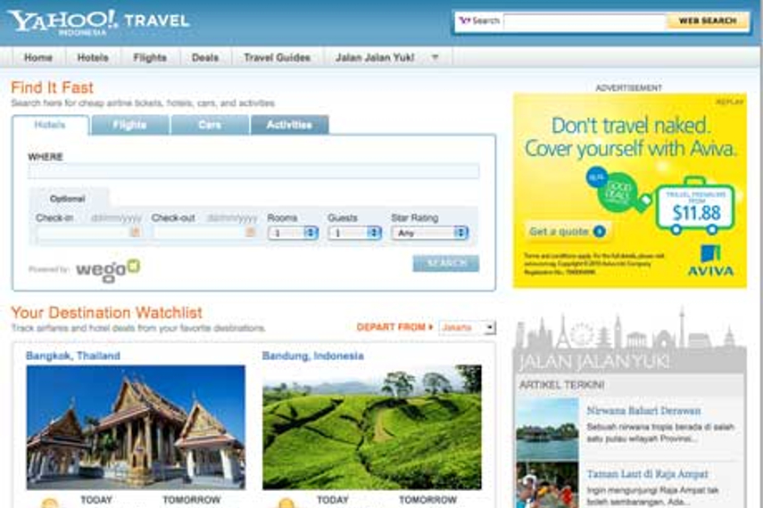 Yahoo indonesia travel takes top spot in indonesia digital comscore has found that for the month of november yahoo indonesia travel ranks number one in its travel category in the category the research company stopboris Gallery