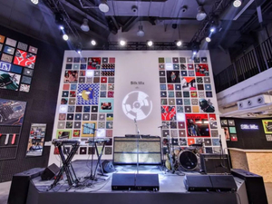 Hermès unveils scarves at rock'n roll pop-up in China