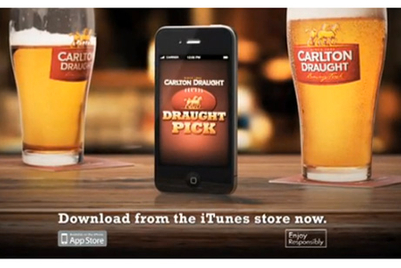 Carlton Draught launches 'Draught pick' AFL app