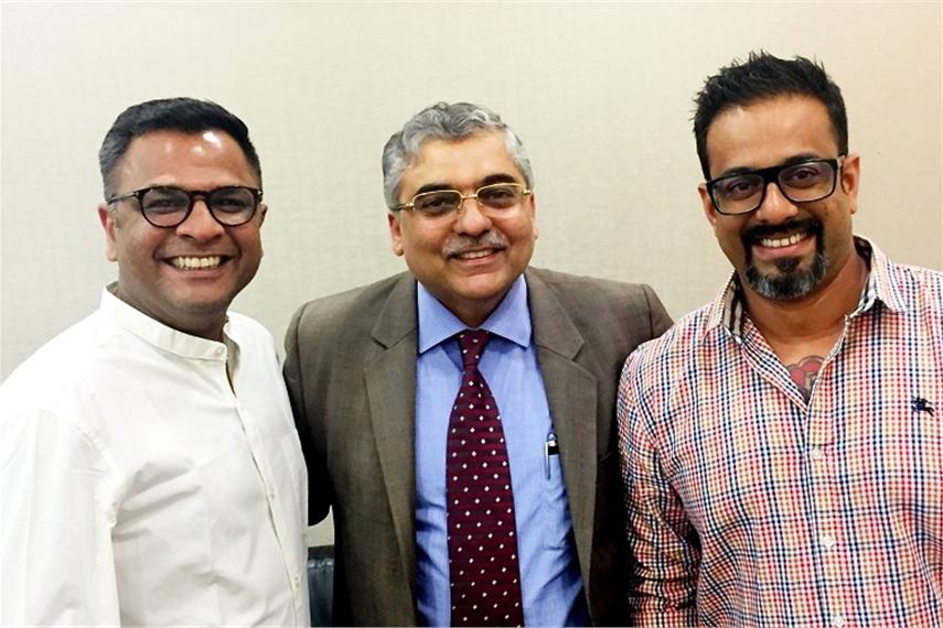 L-R: Kartik Iyer, Ashish Bhasin, Praveen Das
