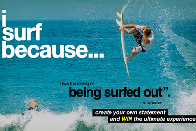 Billabong asks people why they love surfing in an online competition