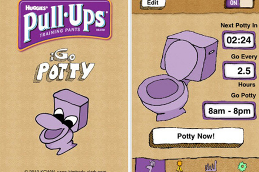 Pull-Ups training pants creates potty training app