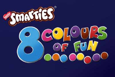 Children and artists join forces in Oz to launch 'Smarties 8 colours of fun'