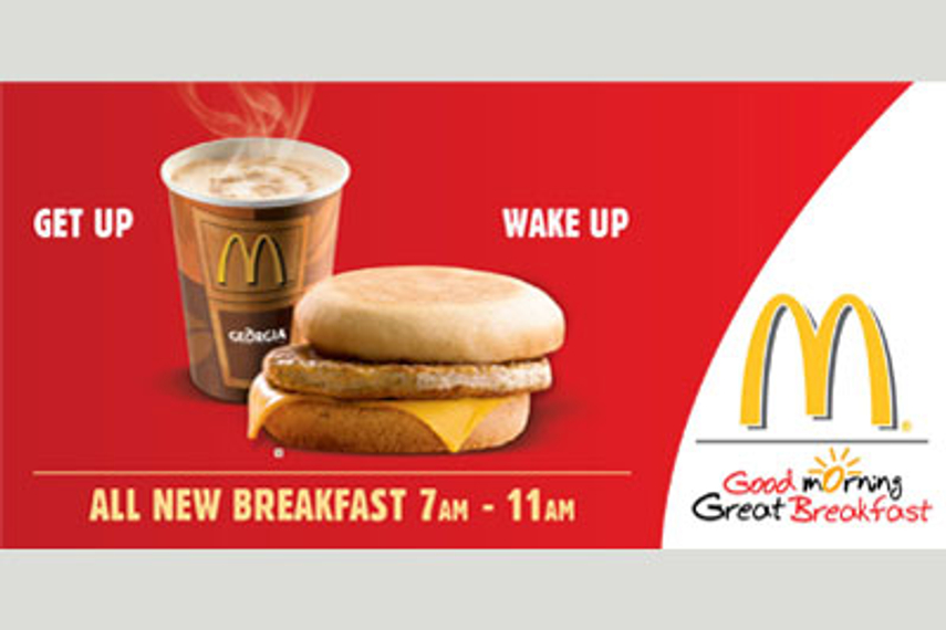 McDonald's launched an ambitious campaign to promote its breakfast business