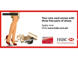CASE STUDY: HSBC Red's mobile ads tempt women with free shoe offer