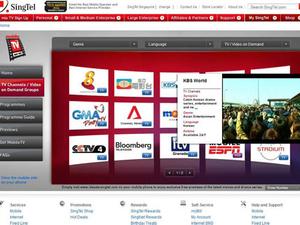 SingTel rolls out revamped MobileTV website
