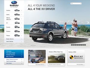 Subaru Australia introduces new website
