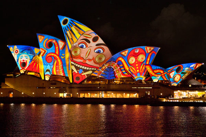 Vivid projections light up Sydney for Audi and Dr Who