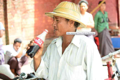 Coke goes back to basics in Myanmar