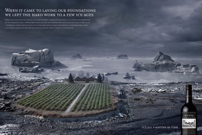 Winery's campaign shows extreme geology behind its vineyard