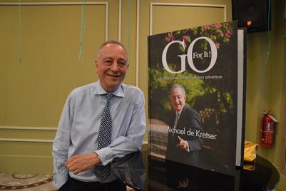 Launch of Michael de Kretser's book, Go For It!