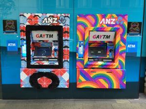 ANZ comes out with 'GAYTMs' for Sydney gay and lesbian event