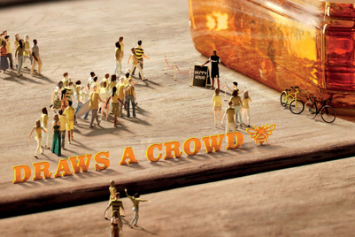 Honey draws a crowd for Jack Daniels campaign in Australia