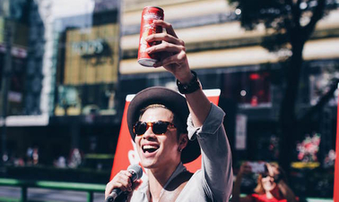 #CokeCNYsg pop-up on Orchard Road