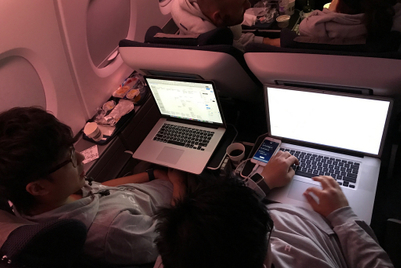 Photos: British Airways hosts hackathon aboard Hong Kong-to-London flight