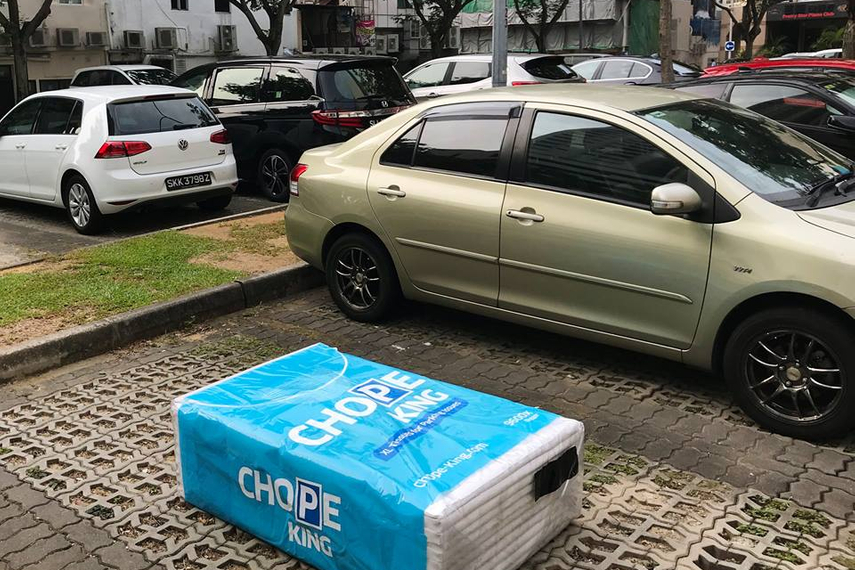 Uber 'chopes' to highlight parking problems in Singapore