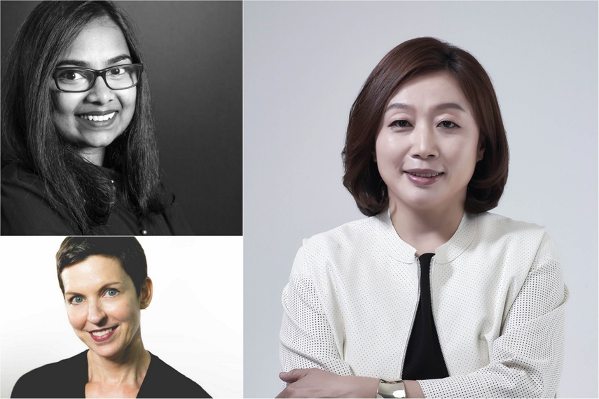 Former Women Leading Change Award winners: (clockwise from top left) Samyukta Yatish, YouMi Cho, Ruth Stubbs