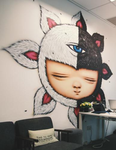 Baby illustraion from Thai graffiiti artist Alex Face
