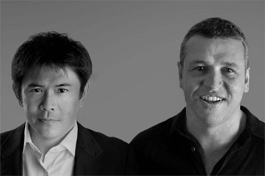 Masami 'Sammy' Hazui (left) with Jim Moffatt
