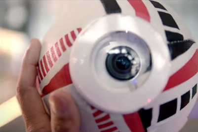 Local entrepreneurs talk to a rugby ball for HSBC Sevens campaign