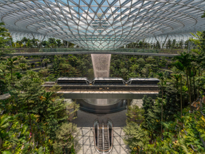 Singaporeans throng world's tallest indoor waterfall at Changi Airport