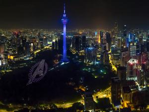 Avengers icons loom large over Kuala Lumpur