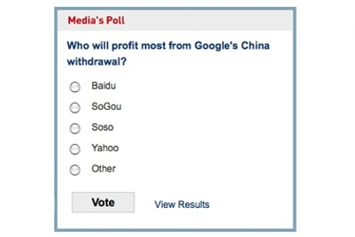 POLL: Who will profit most from Google's China withdrawal?