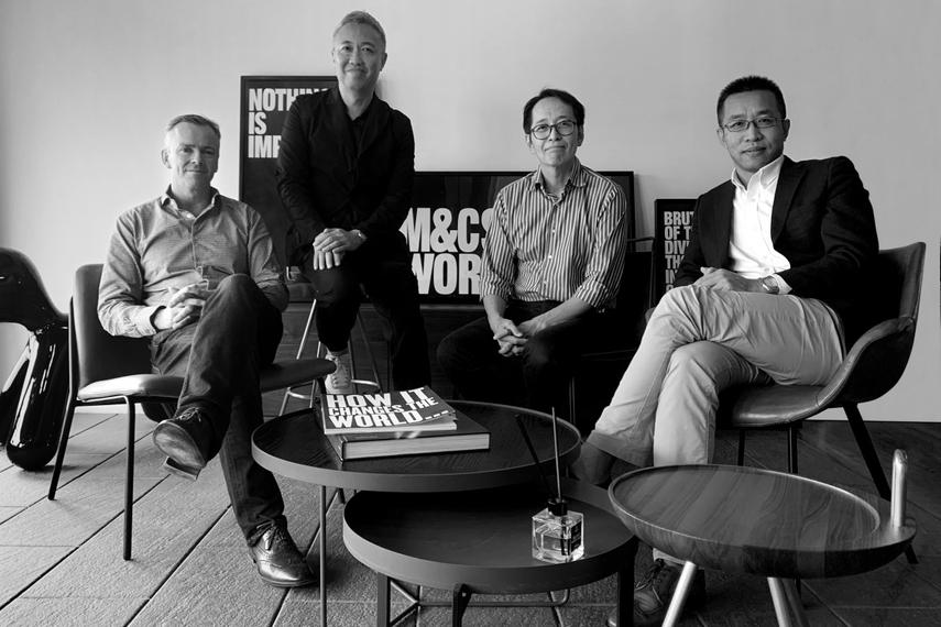 L-R: Richard Morewood, Tony Liu, Chengua (CH) Yang, Michael Liu