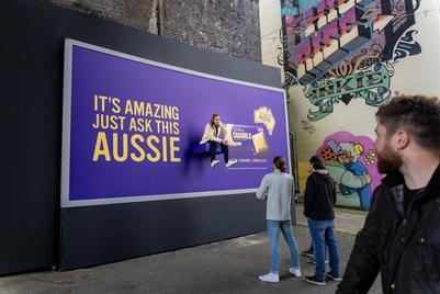 Cadbury installs real-life Aussies on billboards to promote Caramilk