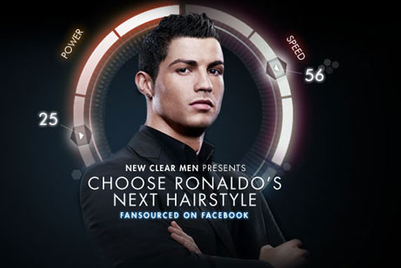 Clear to fansource Ronaldo's new hairdo in global first