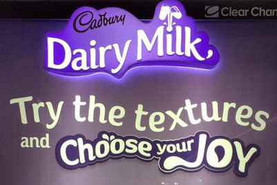 Cadbury's new OOH campaign lets you test out chocolate textures with your bum