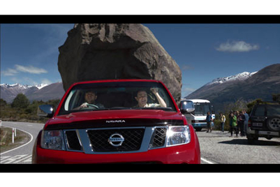 Nissan promotes Navara payload capability with 'Boulder dash' TVC