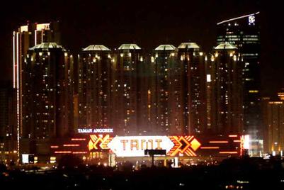 Jakarta shopping mall creates world's largest LED façade