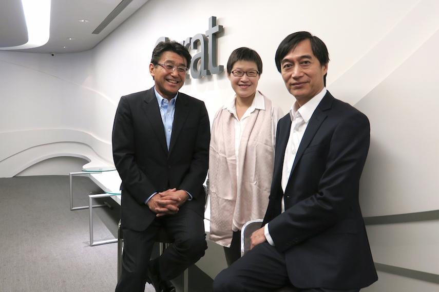 (l-r) Isao Miyauchi, Joanne Liu, YC Chu