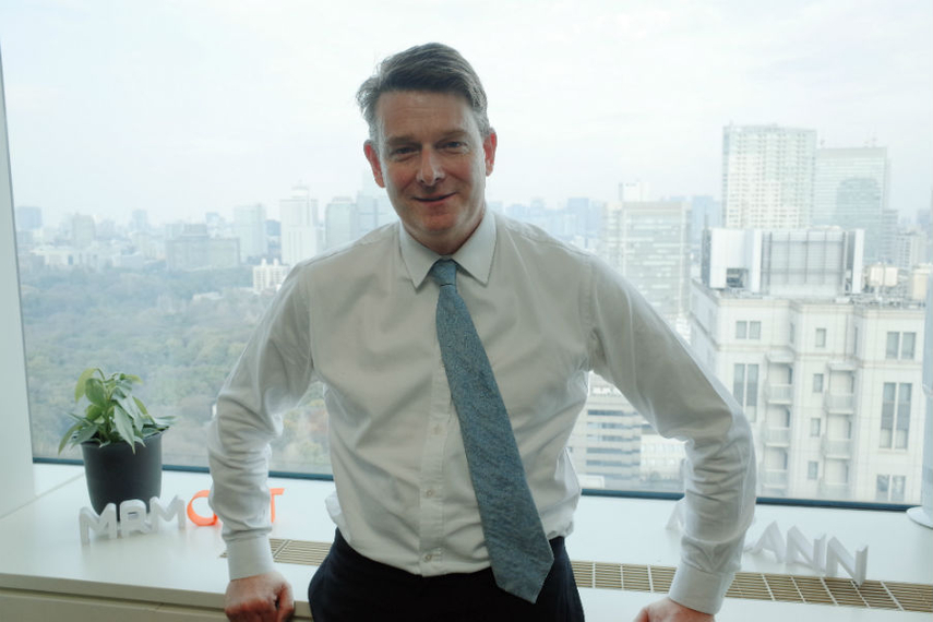 Charles Cadell at McCann Worldgroup's Tokyo offices