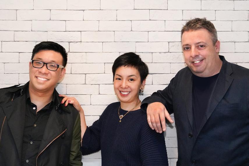 L-R: Brian Ng, Sharon Ho, Nic Brennan