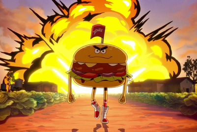 'Righteous burger dude' smites the unsustainable in cartoon campaign
