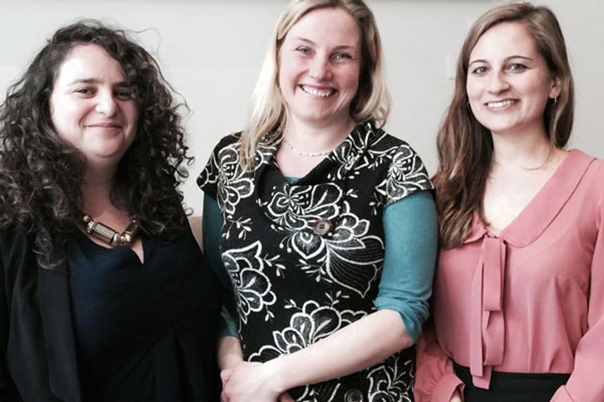 L-R: Rosa Bransky, Gail Steeden, Jessica Enoch