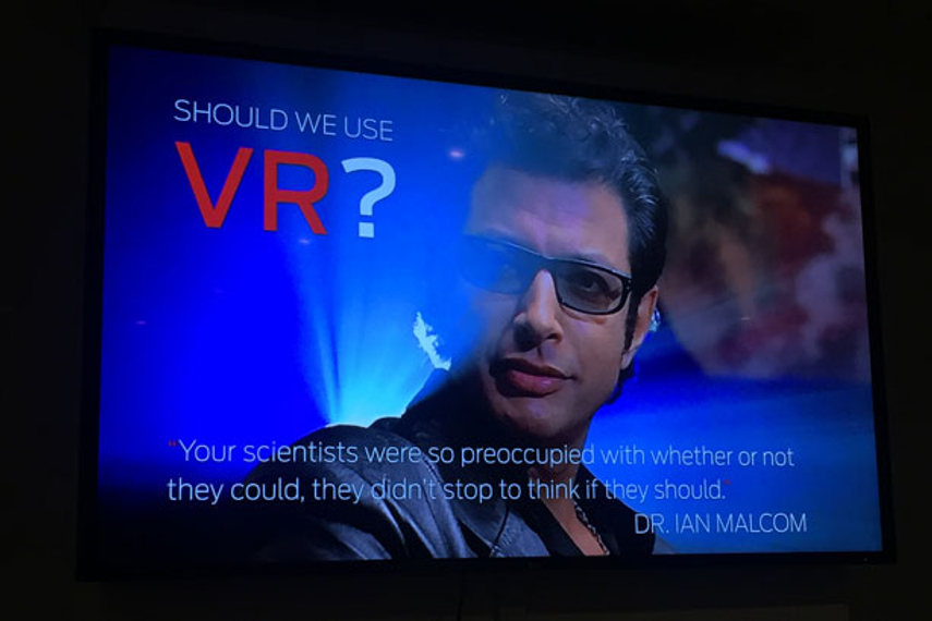 Virtual reality can add depth, but don't force it
