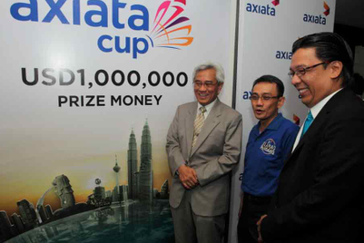 Axiata takes naming rights for regional badminton tournament