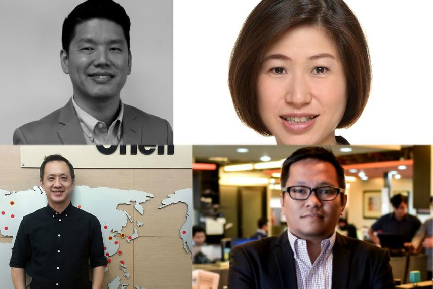 Clockwise from upper left: Jeremy Seow; Crystal Chan; Richard Arboleda, Satit Jantawiwat